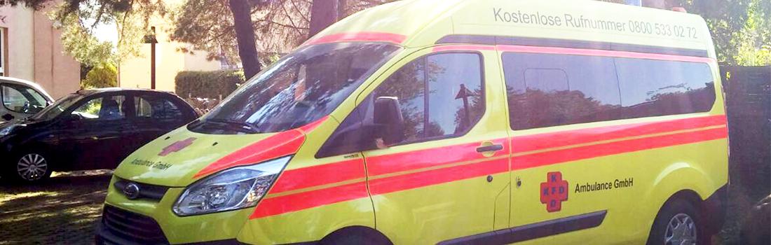 KFD Ambulance hat moderne Fahrzeuge